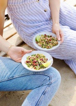 Taboulé de quinoa et cranberries