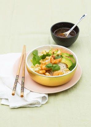 Bo Bun crevettes, pamplemousse et avocat
