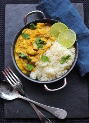 Curry de poisson au lait de coco