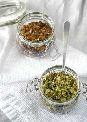 Granola matcha-coco de Cléa