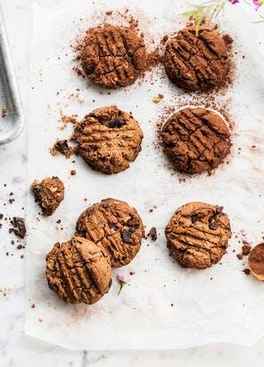 Cookies au chocolat, beurre de cacahuète et avoine