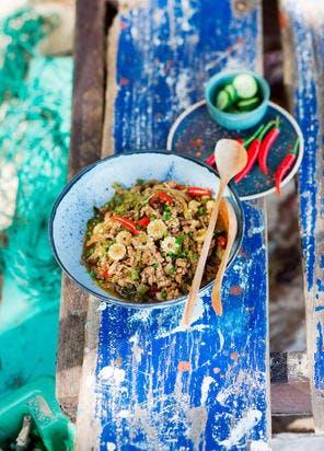 Poulet épicé thaï