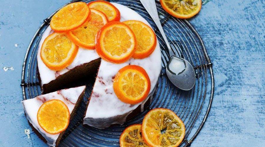 Gâteau aux clémentines confites et verveine