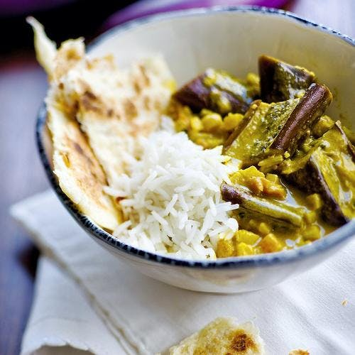 Aubergines au curry