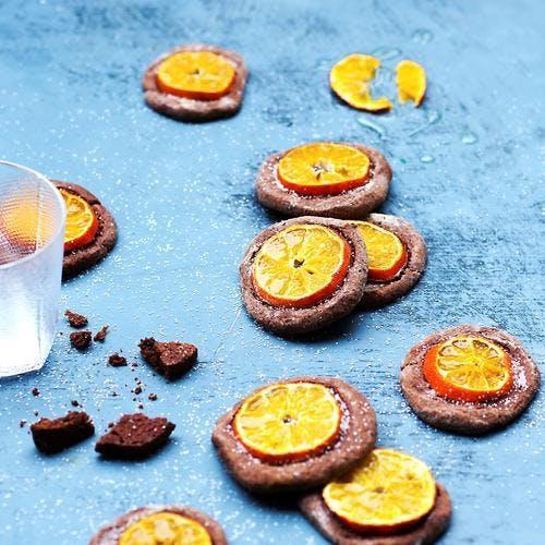 Cookies mandarines-cacao