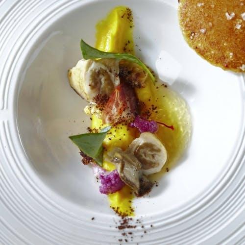 Chou-fleur, huître et safran du Morbihan