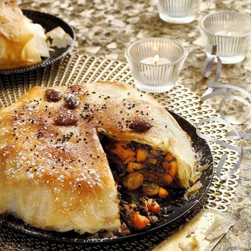 Pastilla au potimarron et aux fruits secs