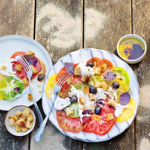 Tomate burrata : salade d'été