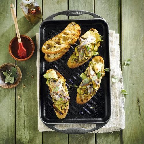 Bruschettas aux courgettes et aux anchois