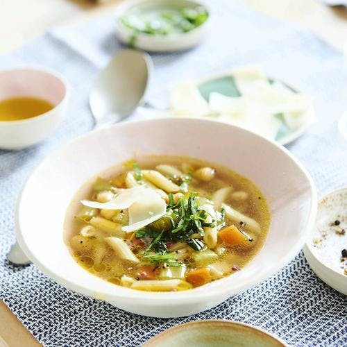 Minestrone aux pois-chiches