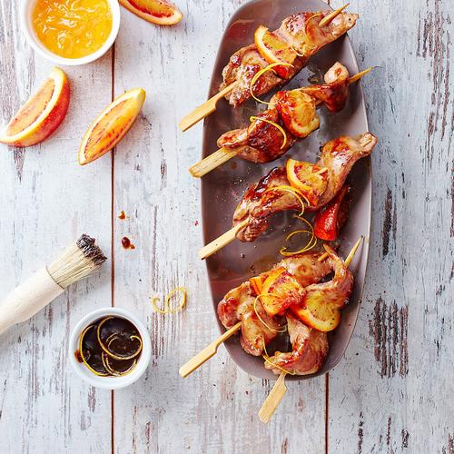 Brochettes de canard à l'orange