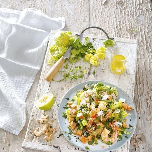 Salade exotique aux crevettes