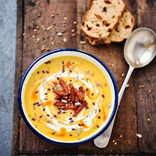 Soupe de potimarron et chorizo