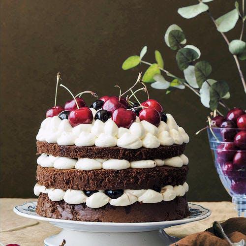 Layer cake façon forêt noire