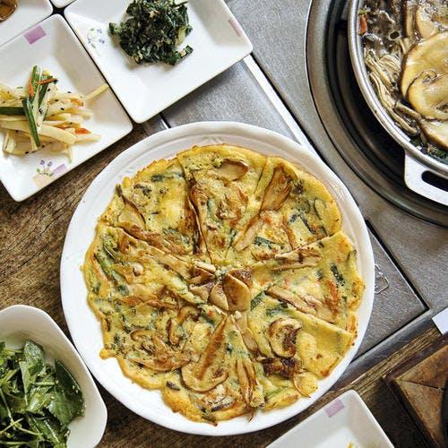 Galette coréenne aux champignons