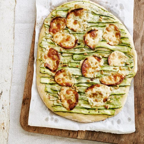 Pizza scamorza et courgettes