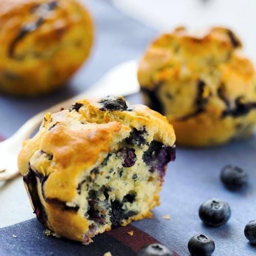 Muffins aux myrtilles et bleu d'Auvergne