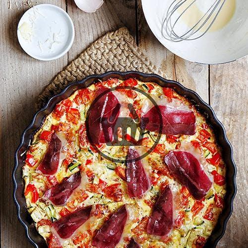 Clafoutis aux légumes et magret de canard fumé | Simple & Bon