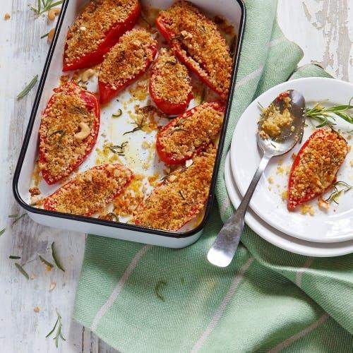 Tomates rôties au crumble de cajou