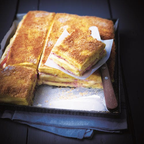 Croque monsieur de polenta