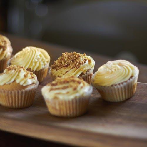 Cupcakes aux petits-beurre et éclats de caramel