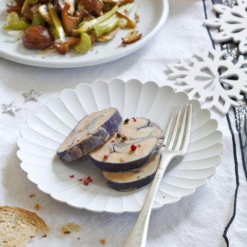 Foie gras au vin chaud, poêlée de légumes d'hiver