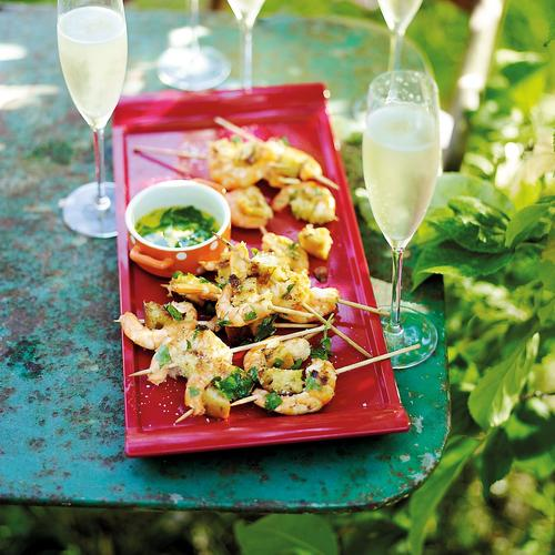 crevettes grillées en persillade
