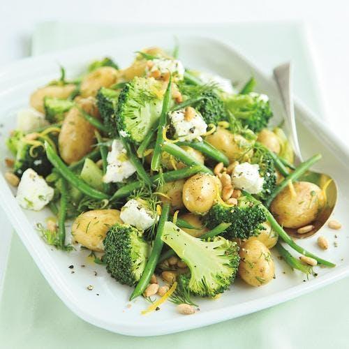 salade de brocoli aux haricots verts