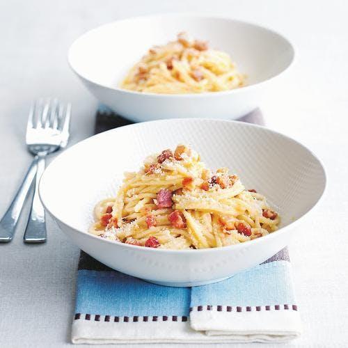 Spaghettonis à la carbonara