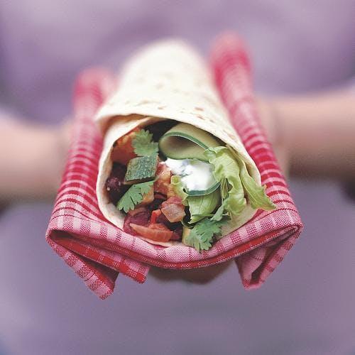 wraps de légumes provençaux