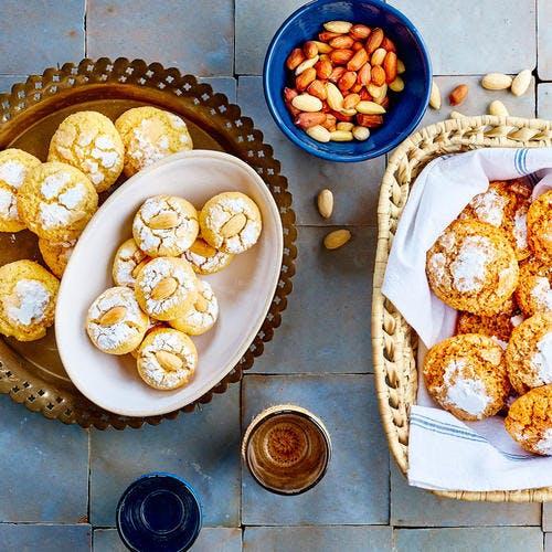 Gohriba semoule-noix de coco et amandes citron