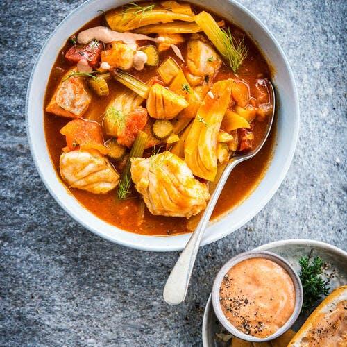 Bouillabaisse et sauce rouille
