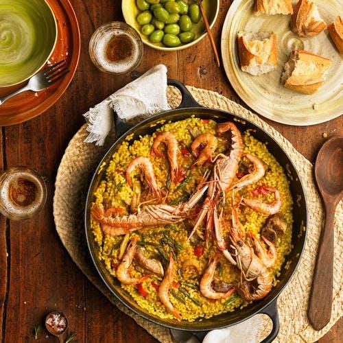Paella aux crustacés