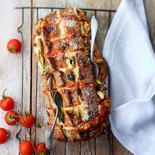 Pain hérisson légumes-mozzarella