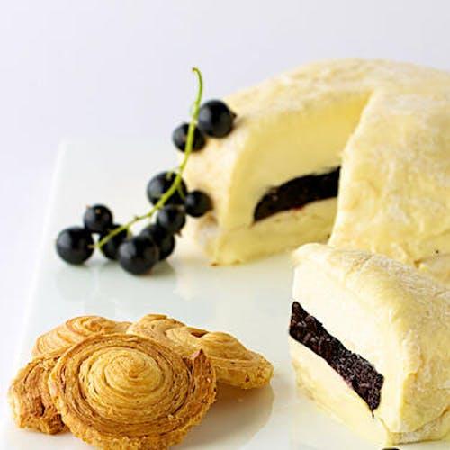Délice de soumaintrain affiné aux cassis et crème de Bourgogne