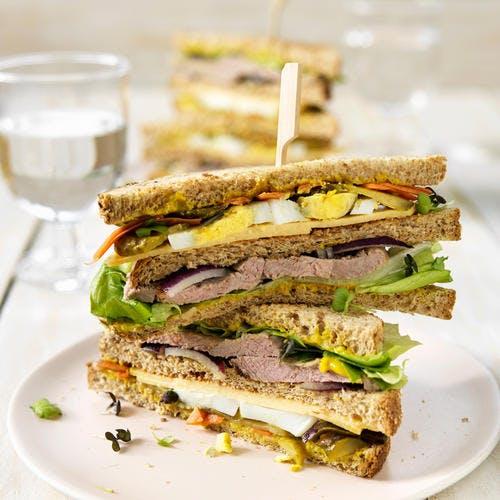 Club sandwich à l'agneau