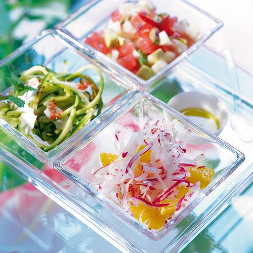 Salade d'avocat, pamplemousse et ananas