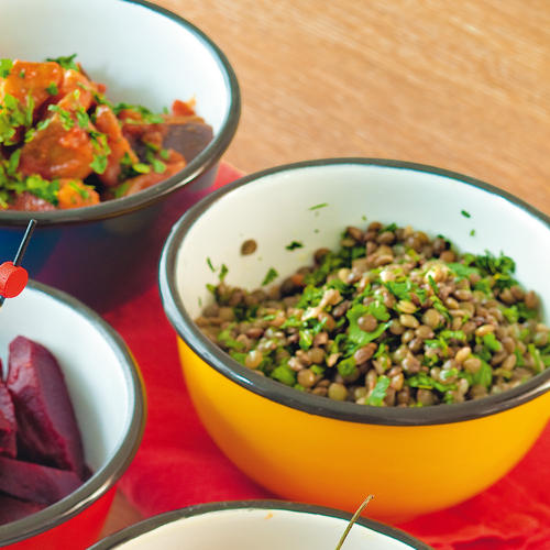 Salade de lentilles à la coriandre