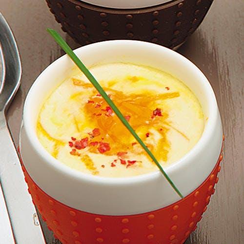 Œufs cocotte au tarama et à l'orange
