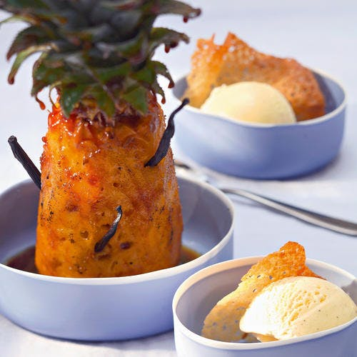 Ananas entier rôti au sirop d'agave