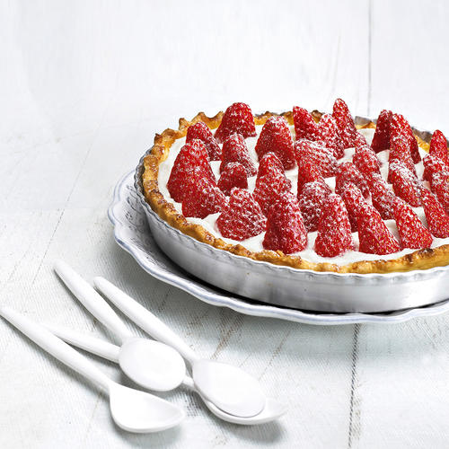 Tarte aux fraises du diamcnhe