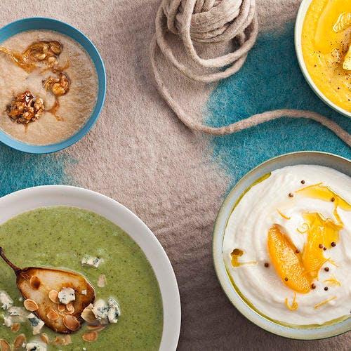 Soupe aux brocolis et à la poire