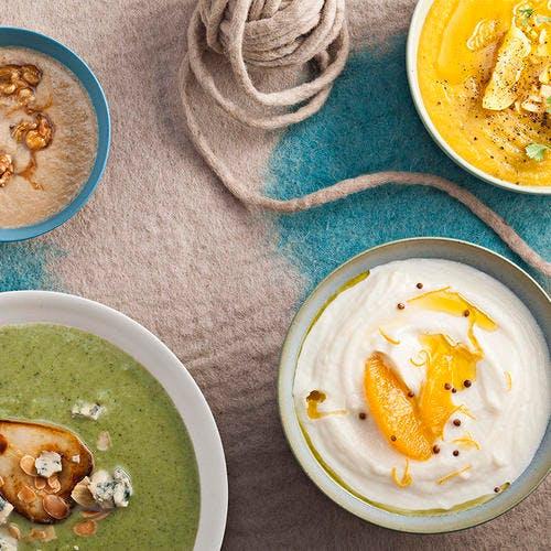 Soupe aux lentilles corail, curry et citron confit