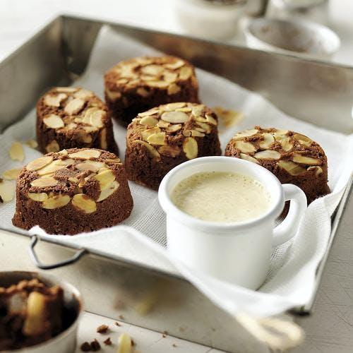 Gâteaux amande - mangue - chocolat