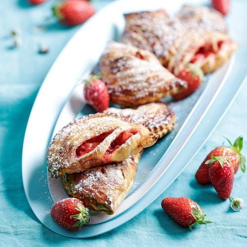 Chaussons aux fraises