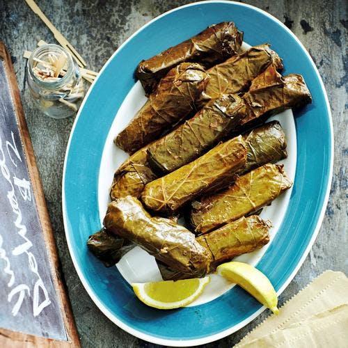 Feuilles de vigne arménienne farcies au riz et au bœuf