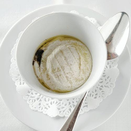 Cocotte de rocamadour de chez Chambon au mascarpone et à la truffe