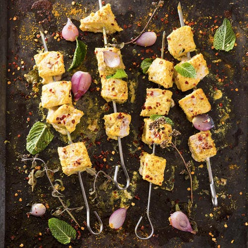 Brochettes d'espadon au curry