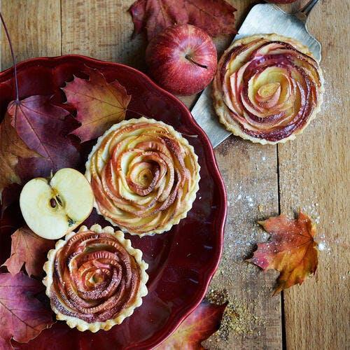 Tartelettes aux pommes façon bouton de rose