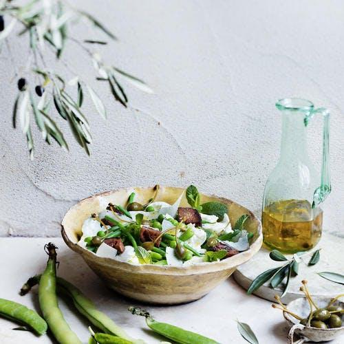 Salade verte du printemps